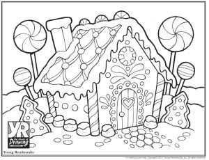 Gingerbread House Coloring Pages Gingerbread House Coloring Page Young Rembrandts Shop