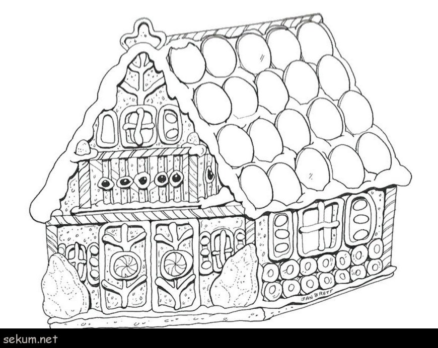 Gingerbread House Coloring Pages House Color Page Gingerbread House Coloring Page Printable