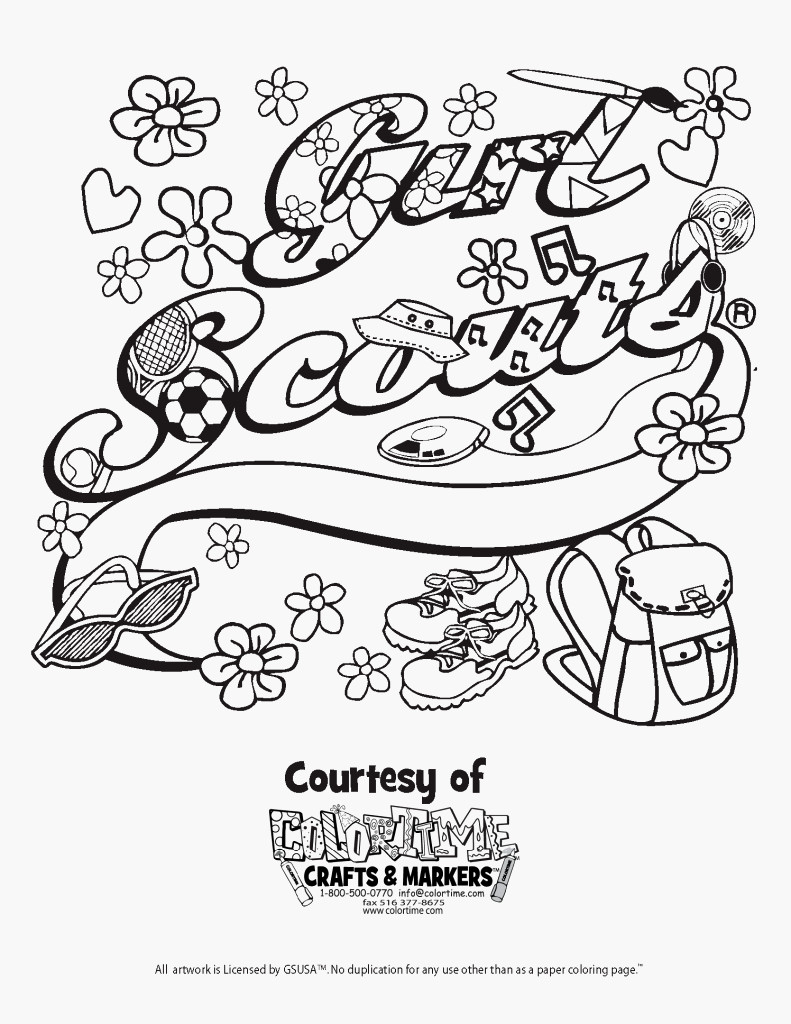 Girl Scout Coloring Pages Daisy Petal Coloring Pages With Girl Scout Daisy Coloring Pages Girl