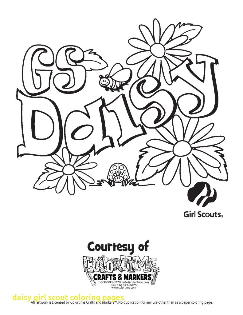 Girl Scout Coloring Pages Girl Scout Daisy Coloring Pages Images Of Scouts Petal At Vietti
