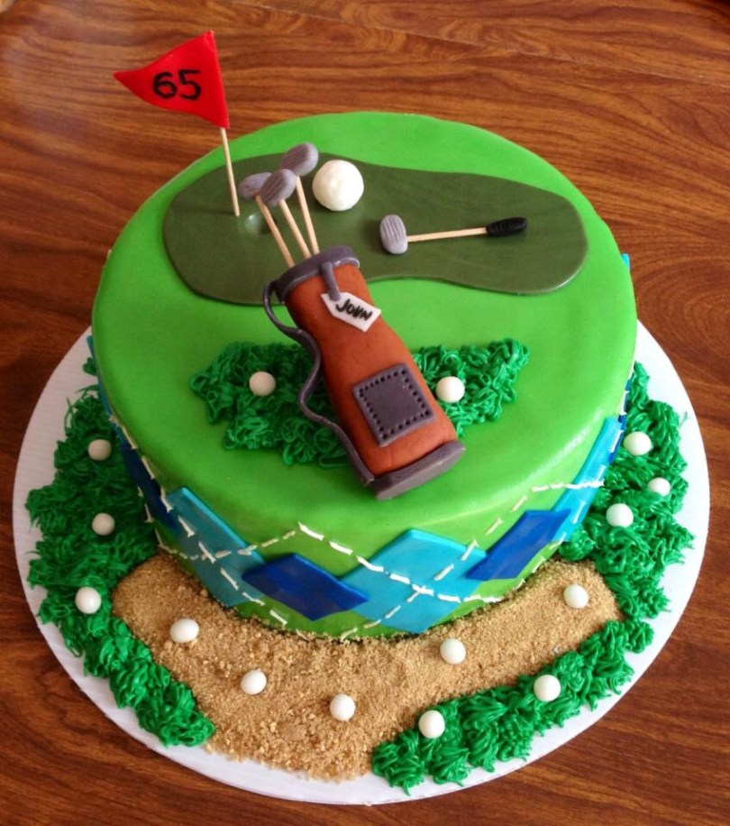 Golf Birthday Cakes 10 Happy Birthday Golf Cupcakes Photo Golf Birthday Cakes Men