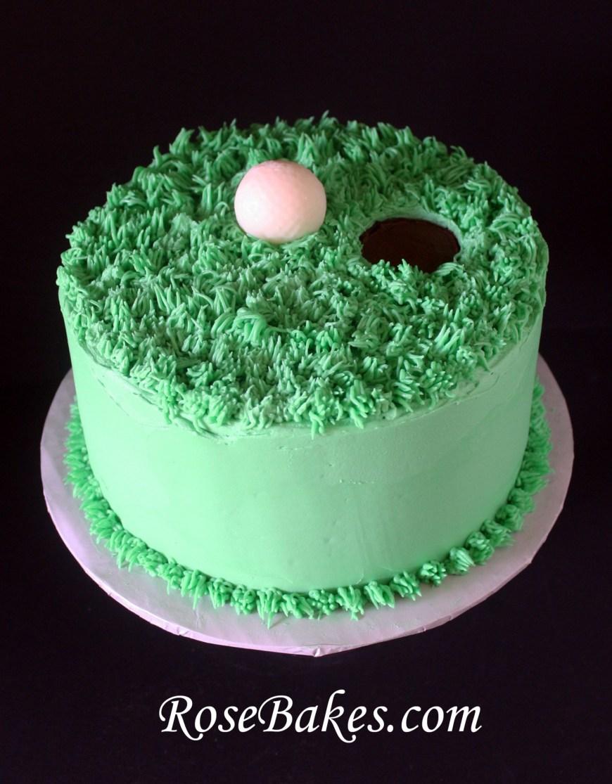 Golf Birthday Cakes Golf Ball On The Green Birthday Cake