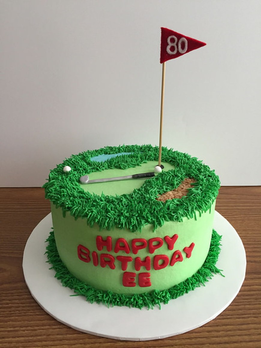 Golf Birthday Cakes Golf Birthday Cake Cakecentral