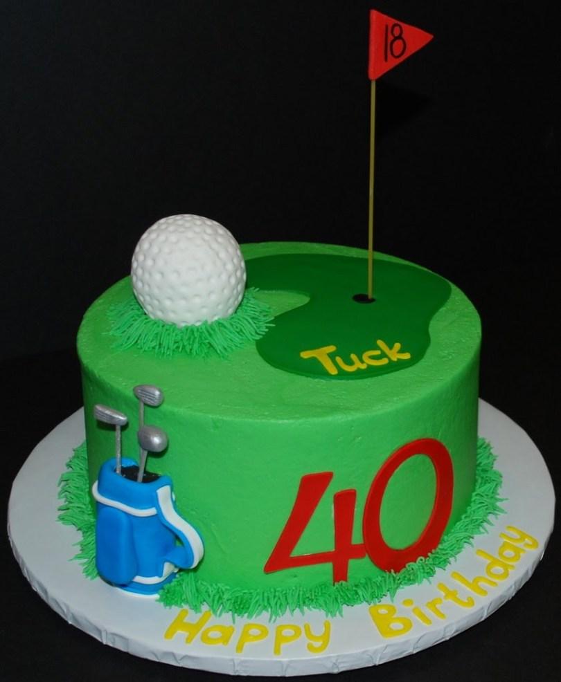 Golf Birthday Cakes Golf Birthday Cakes