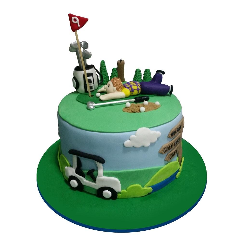 30 Creative Photo Of Golf Birthday Cakes Davemelillo Com