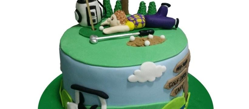 Golf Birthday Cakes Golfing Birthday Cake