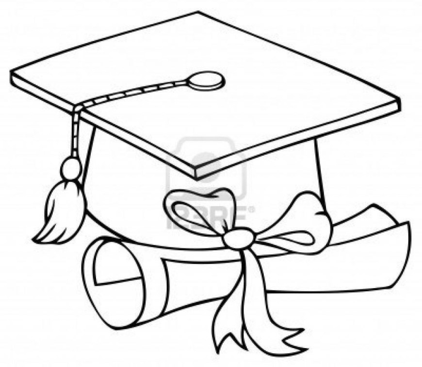 Graduation Coloring Pages Graduation Cap Coloring Page Graduation Cap Coloring Page