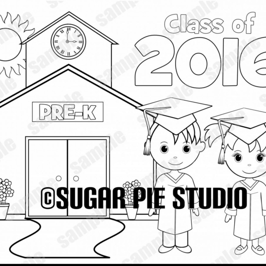 Graduation Coloring Pages Pre K Graduation Coloring Pages At Getdrawings Free For