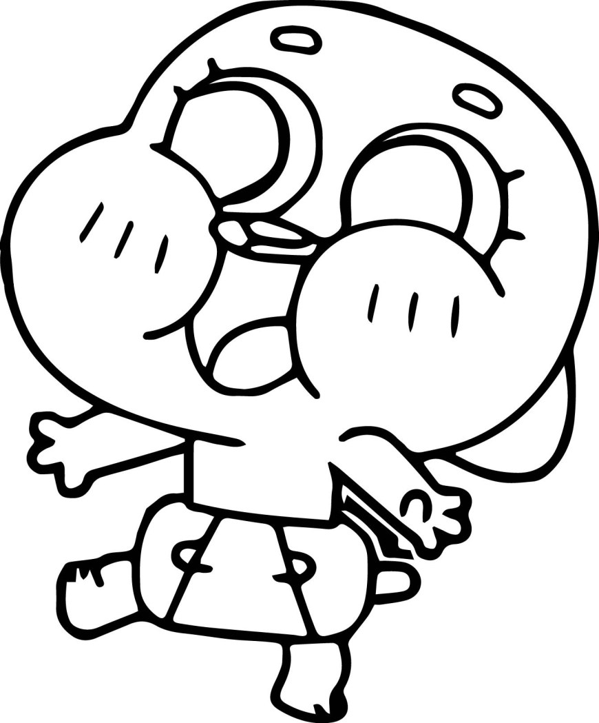 Gumball Coloring Pages Gumball Coloring Pages Dcp4 Survival Amazing World Of Gumball