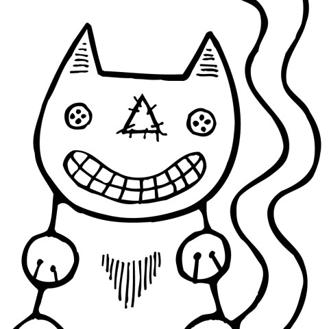 Halloween Cat Coloring Pages Halloween Cat Coloring Page Free Printable Coloring Pages