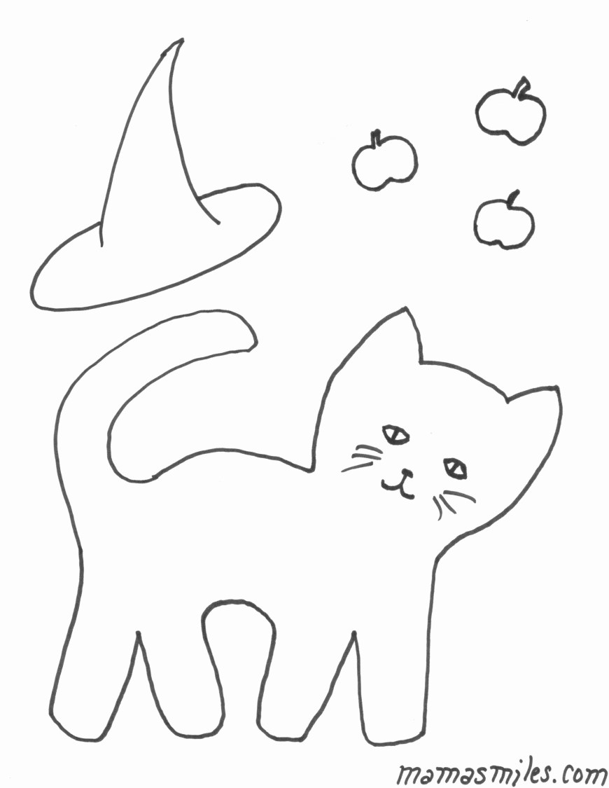 Halloween Cat Coloring Pages Printable Halloween Coloring Pages Coloriages Inspirational