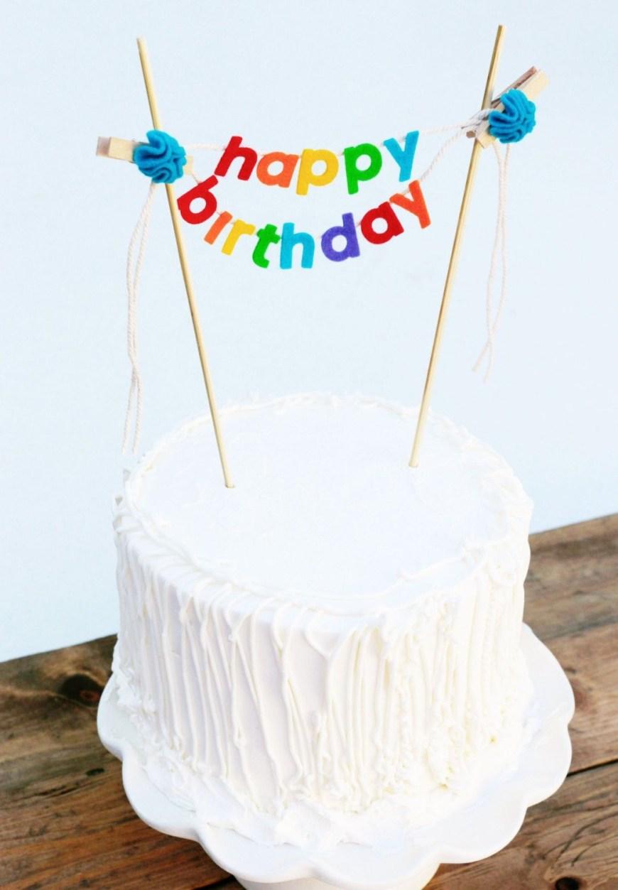 Happy Birthday Cake Banner Birthday Cake Banner Birthday Cake Topper Diy Garlands For 2014