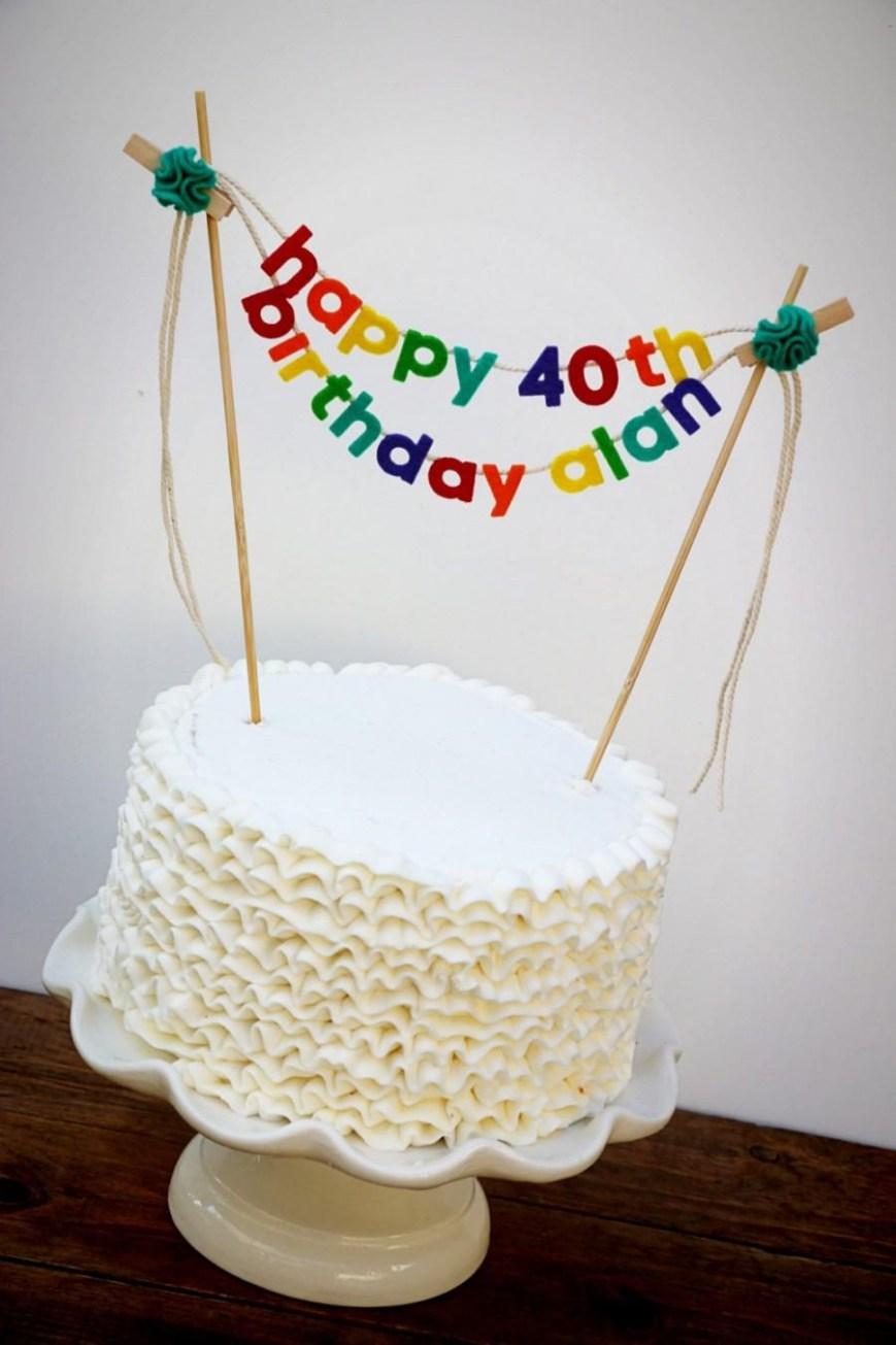Happy Birthday Cake Banner Birthday Cake Banner Birthday Cake Topper Happy Birthday Cake