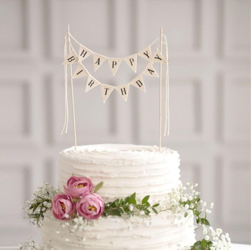 Happy Birthday Cake Banner Happy Birthday Cake Banner Birthday Cake Bunting Happy Etsy