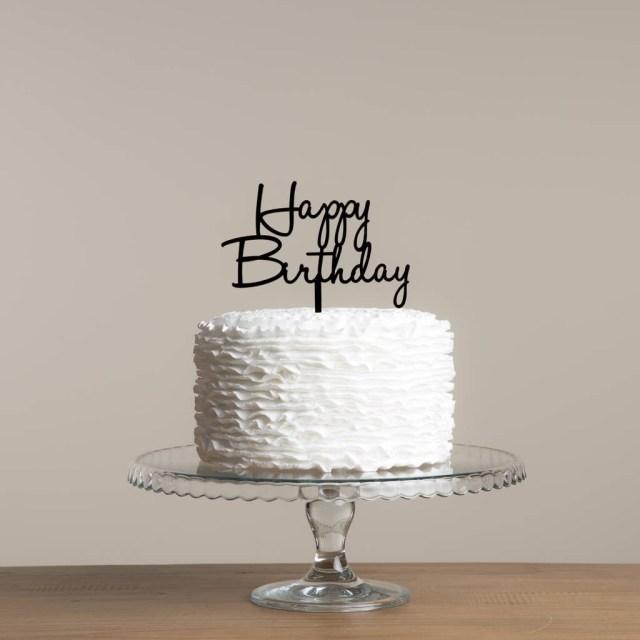 Happy Birthday Cake For Men Happy Birthday Cake Topper Decoration Set Funky Laser