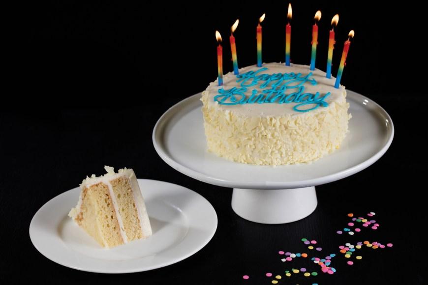 Happy Birthday Cake Pic Double Layer Vanilla Cake Birthday Cakes For Sale