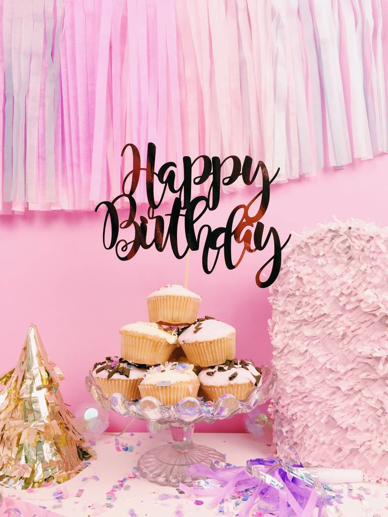 Happy Birthday Cake Pic Happy Birthday Cake Topper All Her Glory Notonthehighstreet
