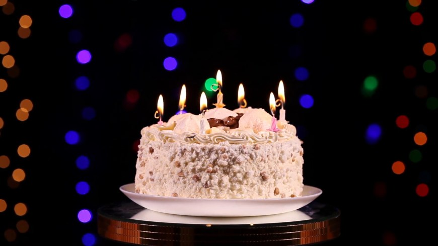 Happy Birthday Cake Pic Happy Birthday Cake With Burning Candles Which Are Then Extinguished