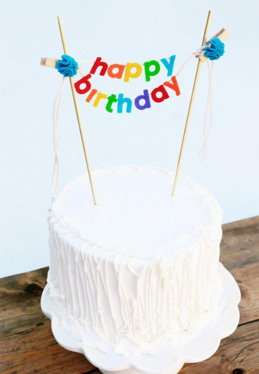 Happy Birthday Cake Topper Birthday Cake Banner Birthday Cake Topper Happy Birthday Cake