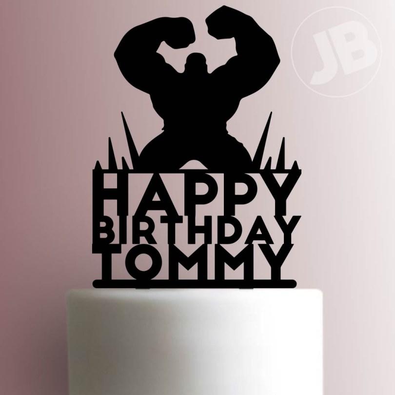 Happy Birthday Cake Topper Custom Hulk Happy Birthday Cake Topper 100