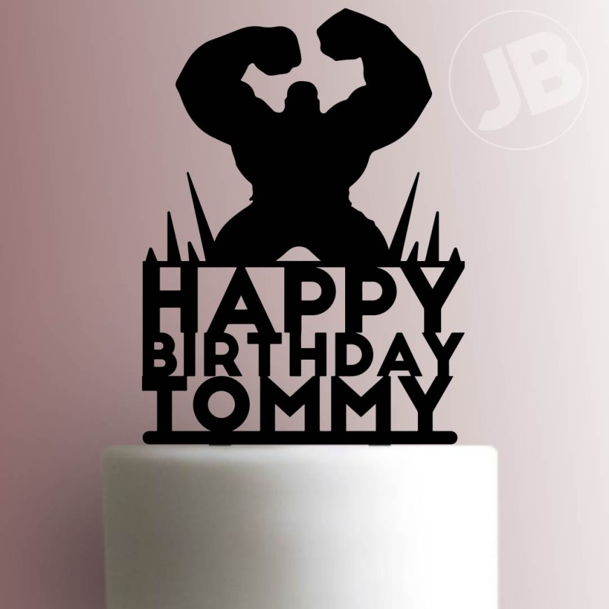 Happy Birthday Cake Topper Custom Hulk Happy Birthday Cake Topper 100