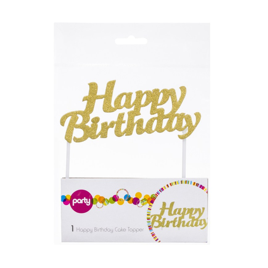 Happy Birthday Cake Topper Happy Birthday Cake Topper Kmart