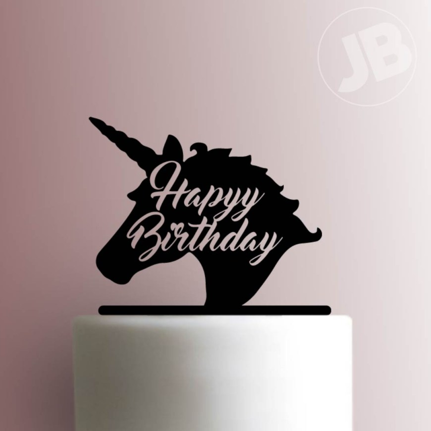 Happy Birthday Cake Topper Unicorn Happy Birthday Cake Topper 100