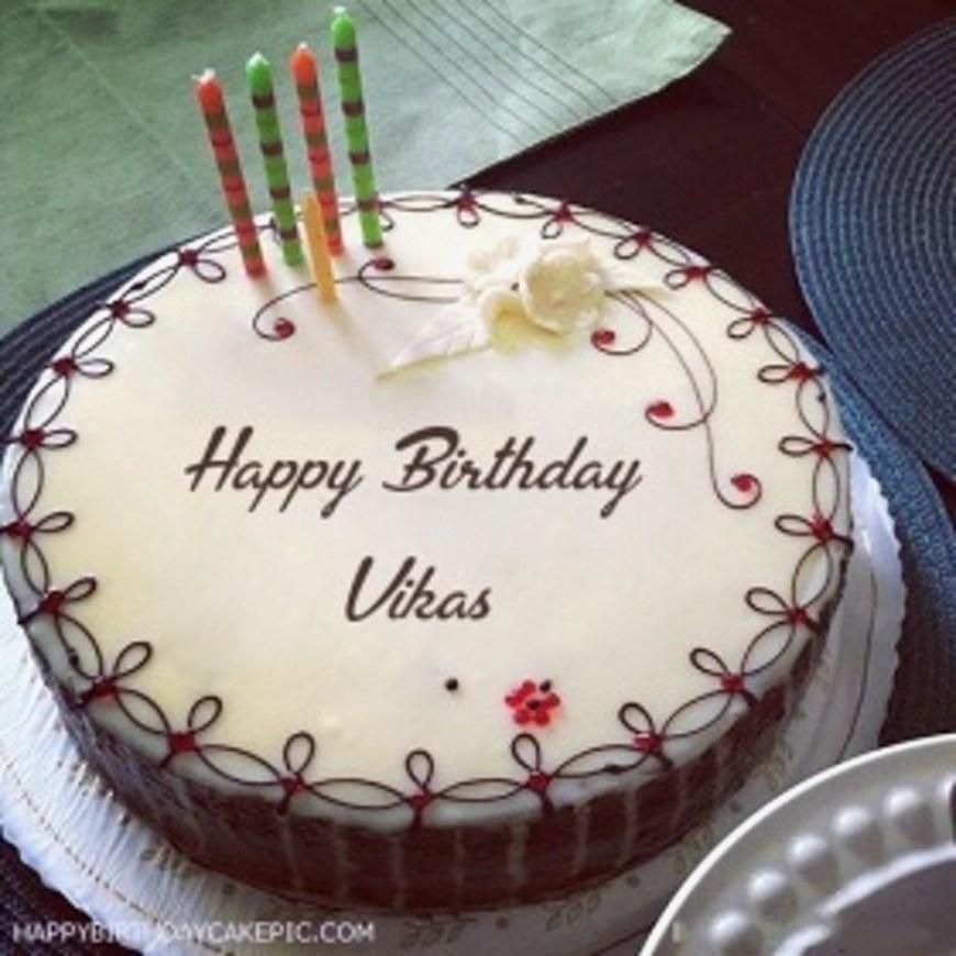 Happy Birthday Cake With Name Trend Happy Birthday Cake Images Vikas Vikas Happy Birthday Cakes