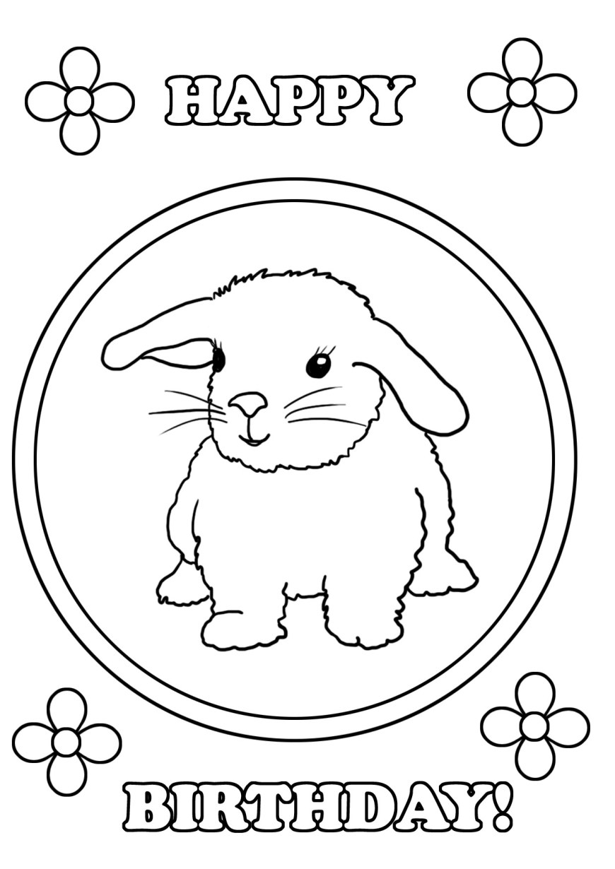 Happy Birthday Coloring Page Birthday Coloring Pages