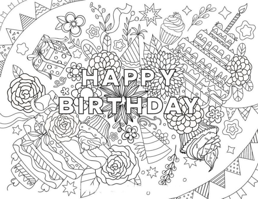 Happy Birthday Coloring Page Happy Birthday Coloring Pages Coloringrocks