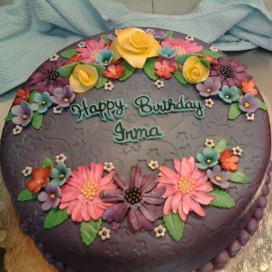 Happy Birthday Flower Cake Happy Birthday Flower Cake Hand Made Flowers With Airbrushed Details