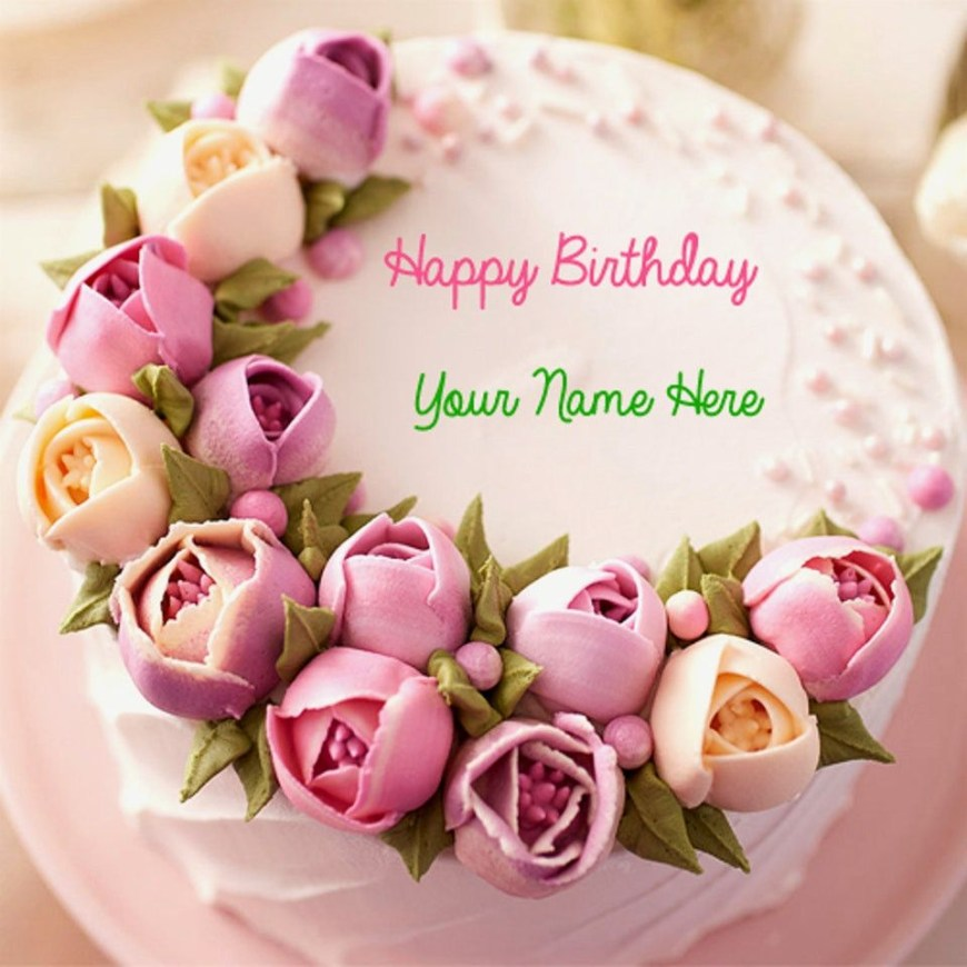 Happy Birthday Flower Cake Happy Birthday Flower Cake Lovely Wonderful Happy Birthday Cake And