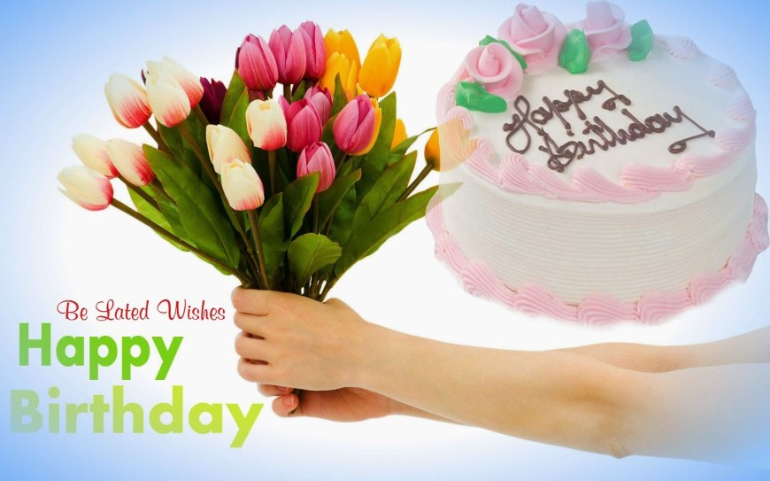Happy Birthday Flower Cake Pin Darshan Kumar On Wishes Happy Birthday Wishes Birthday