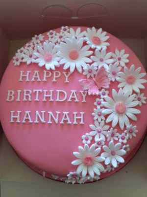 Happy Birthday Flower Cake This Pretty Pink Flower Birthday Cake Is What Zoey Wants For Her