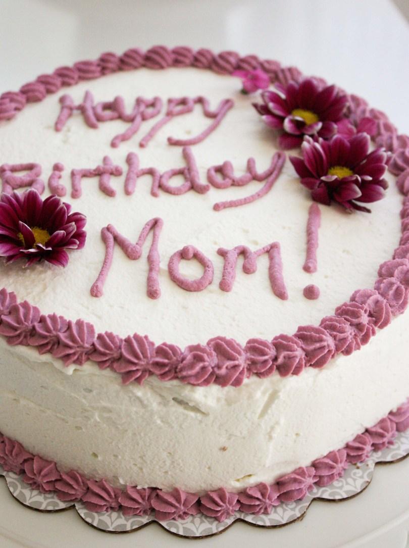 Happy Birthday Mom Cake Banana Birthday Cake For My Mom Foodologie