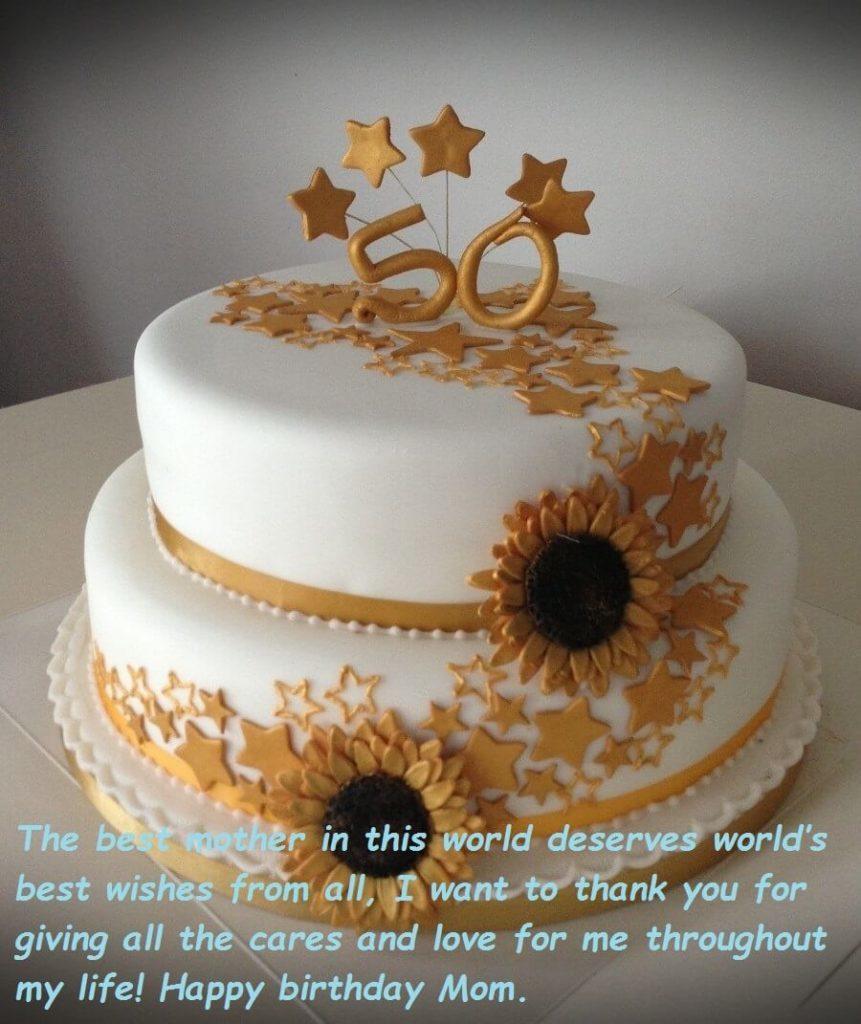 Happy Birthday Mom Cake Birthday Cake Wishes Images For Mom