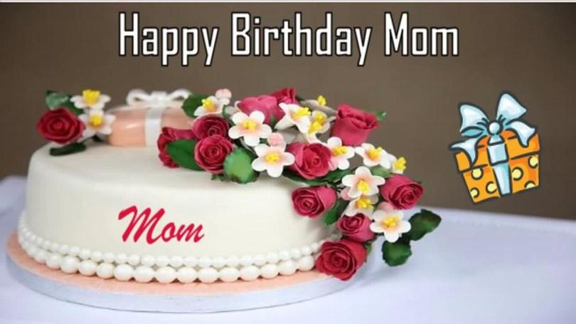 Happy Birthday Mom Cake Happy Birthday Mom Image Wishes Youtube