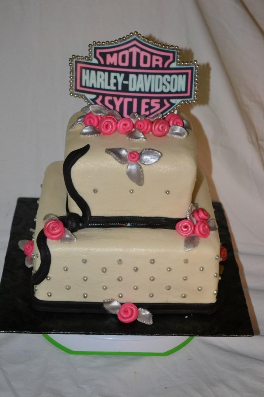 Harley Davidson Birthday Cakes Feminine Harley Davidson Birthday Cake Cakecentral