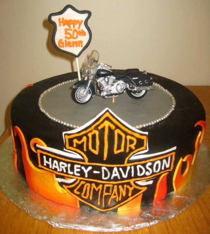 Harley Davidson Birthday Cakes Harley Davidson Birthday Cake Darlingcake Ithaca Wedding