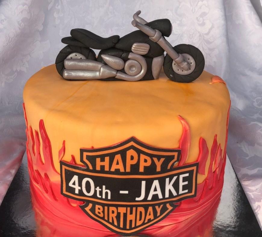 Harley Davidson Birthday Cakes Harley Davidson Birthday Cake Kay Cake Designs