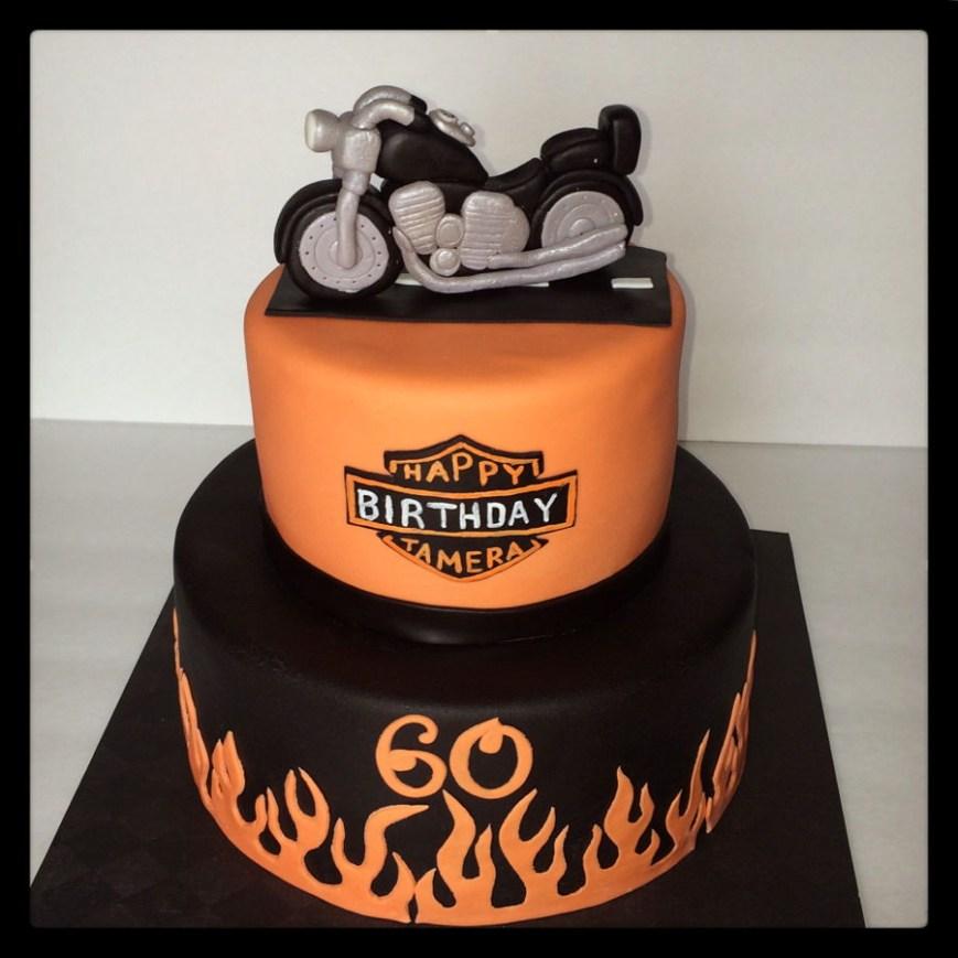 Harley Davidson Birthday Cakes Harley Davidson Motorcycle Birthday Cake Cakecentral