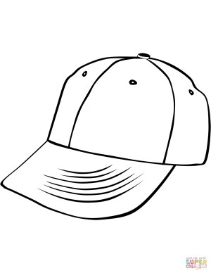 Hat Coloring Page Baseball Cap Coloring Page Free Printable Coloring Pages