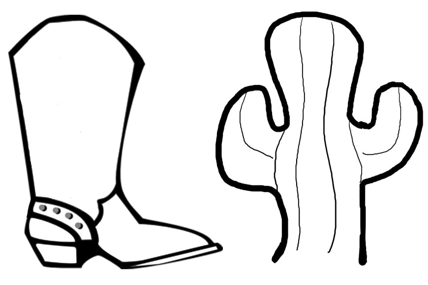 Hat Coloring Page Coloring Pages Of Cowboy Boot And Hat Stuning Stencil For Cowboy Hat