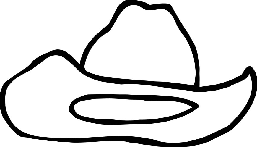 Hat Coloring Page Cowboy Hat Coloring Page Wecoloringpage