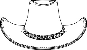 Hat Coloring Page Cowboy Hat Coloring Pages Wecoloringpage