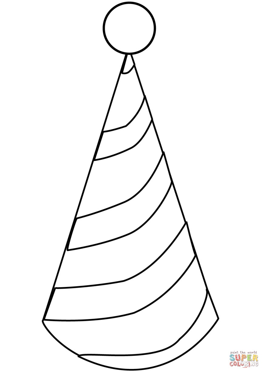Hat Coloring Page Party Hat Coloring Page Free Printable Coloring Pages