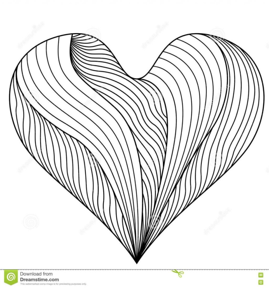Heart Coloring Page Coloring Page Coloring Pages Printable Heart Free For Book Page