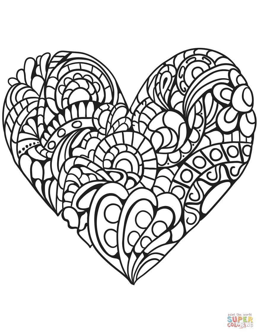 Heart Coloring Page Heart Coloring Pages Free Printable Pictures