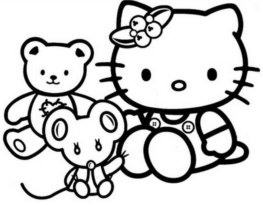 Hello Kitty Color Pages Hello Kitty Coloring Pages Printable Wpvote