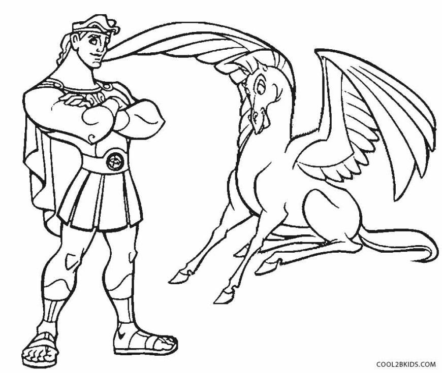 Hercules Coloring Pages Ba Pegasus Coloring Pages